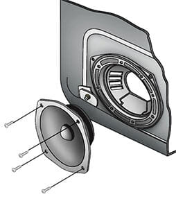 Replacing door speakers