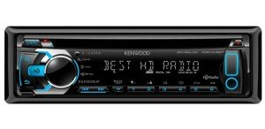 Kenwood KDC-X497 eXcelon Single DIN In-Dash Car Stereo Receiver with HD Radio