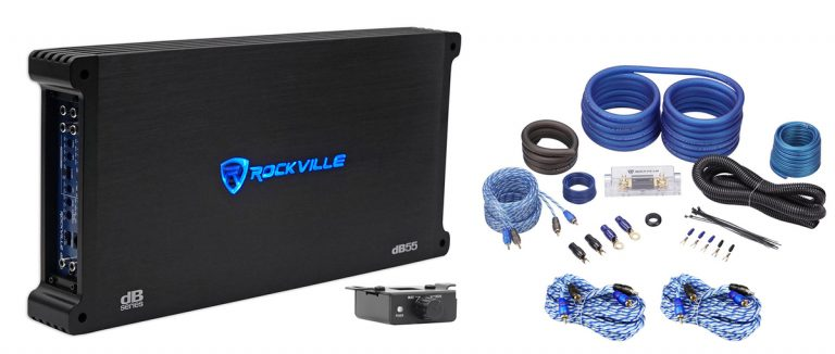 Rockville dB55 4000 Watt/2000w RMS 5 Channel Amplifier Car
