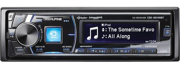 Alpine CDE-HD149BT Single-Din Bluetooth Car Stereo