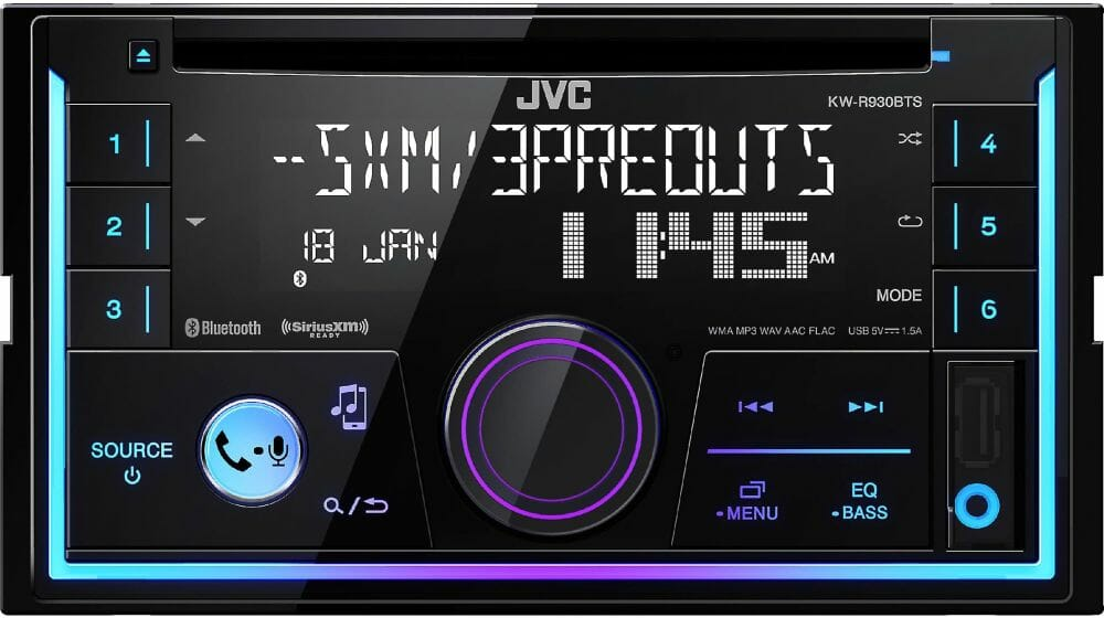 JVC KWR930BT Double DIN Car Stereo Review