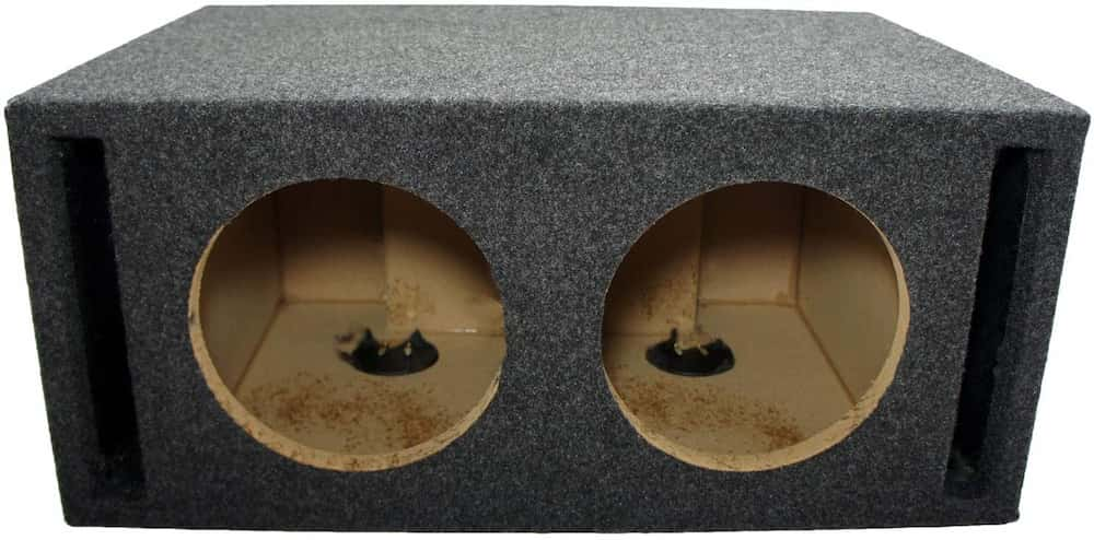 American Sound Connection Dual 8-Inch SPL Bass Subwoofer Labyrinth Vent Sub Box
